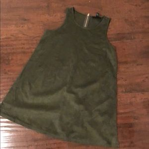 Forever 21 Dresses - OLIVE GREEN SUEDE DRESS